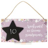 Baby Countdown Hanging Plaque (Grandparents)