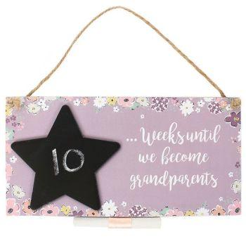 Baby Countdown Hanging Plaque (Grandparents)