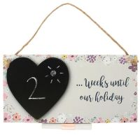 Holiday Countdown Hanging Plaque