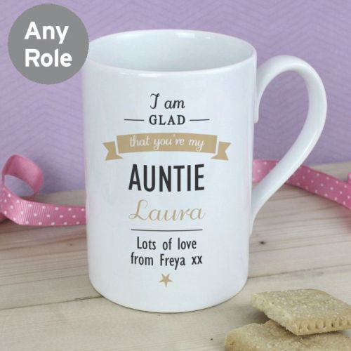 Personalised I Am Glad... Slim Mug