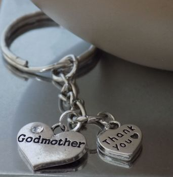 Godmother Thank You Keyring