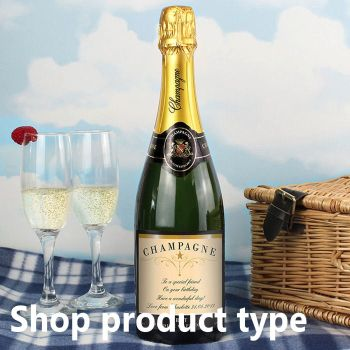 Personalised champagne bottle for any occasion