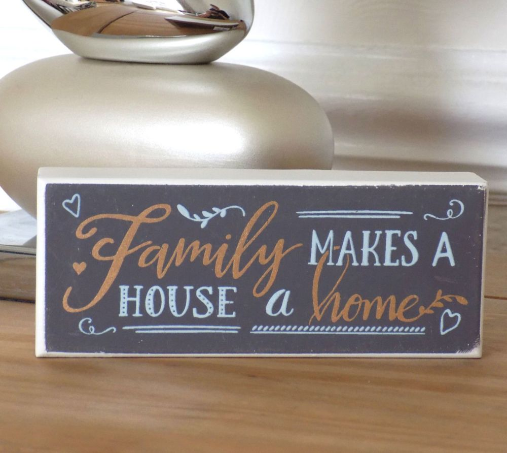Family and Home Standing Token Plaque