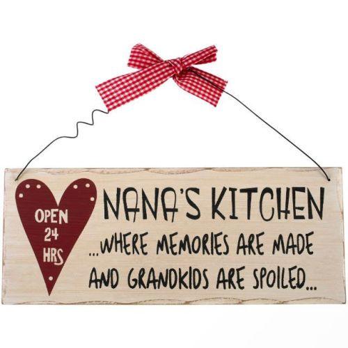 Nana's kitchen wooden hanging plaque