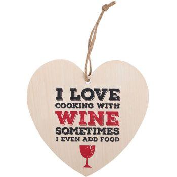 Wine Heart Plaque