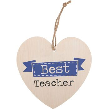 Best Teacher Heart Plaque
