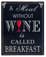 Wine Plaque - Breakfast, Wine Theme