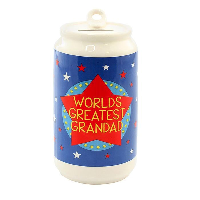 Money Box in Beer Can design - World's Greatest Grandad