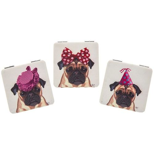 Party Pug Handbag Mirror