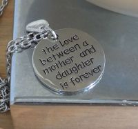 Mother and Daughter Pendant Necklace