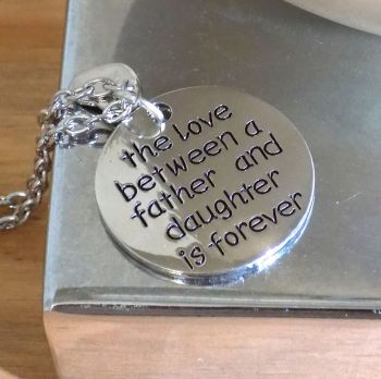 Father and Daughter Pendant Necklace