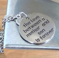 Mother and Son Pendant Necklace