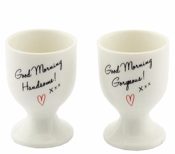 Set of 2 Eggcups - His and Hers