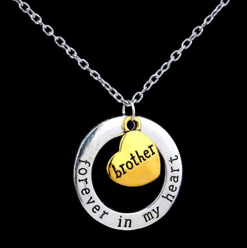 Brother Keepsake Pendant Necklace