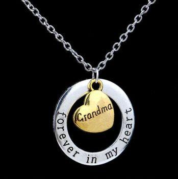 Grandma Keepsake Pendant Necklace