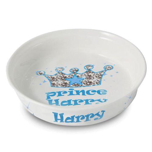 Personalised Bling Prince Pet Bowl