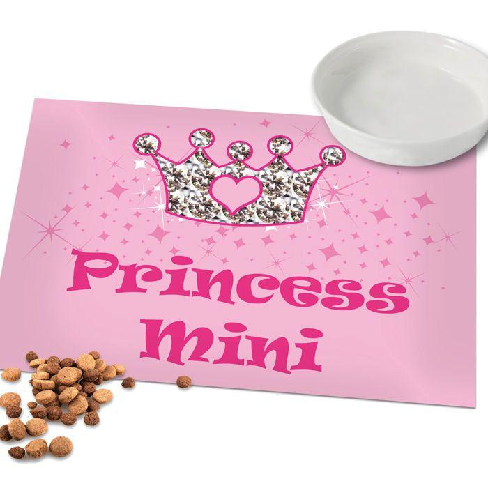 Personalised Pink Princess Pet Placemat