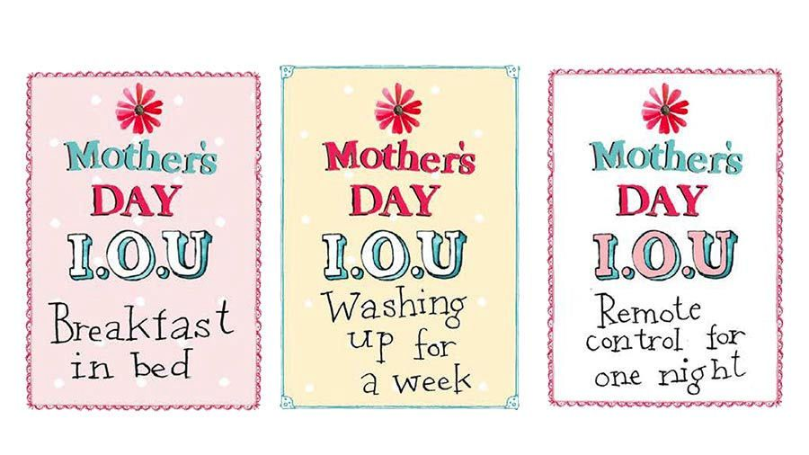 Mothers day IOU stickers