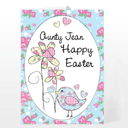 Personalised Easter Daffodil & Chick Easter Card