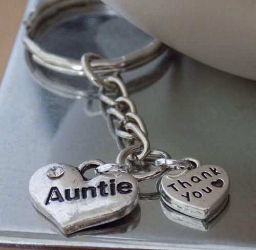 Auntie Keyring Keepsake Gift