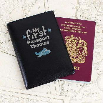 Personalised My First Black Passport Holder