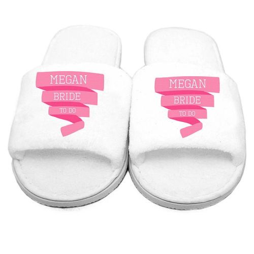 Bride to be personalised slippers