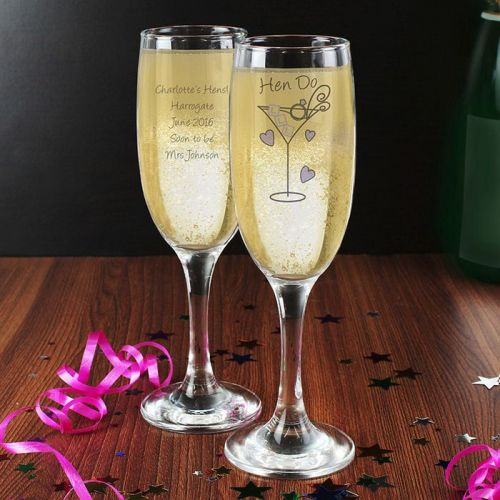 Personalised Hen Do Toast Flute