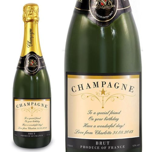 Personalised champagne any message