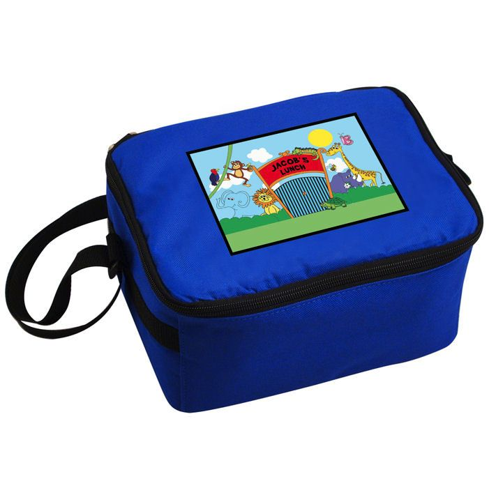 Personalised Boys Lunch Bag - Zoo