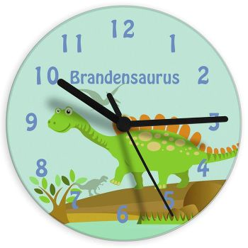 Personalised Children's Clock - Dinosaur