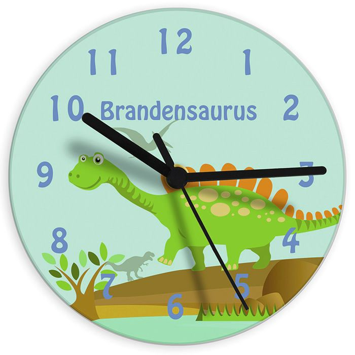 Personalised Children's Clock - Dinosaur