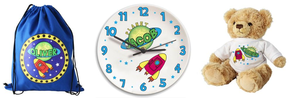 Personalised childrens gifts space