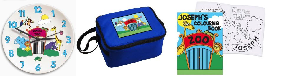 Personalised childrens gifts zoo