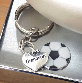 Grandson Football Keyring