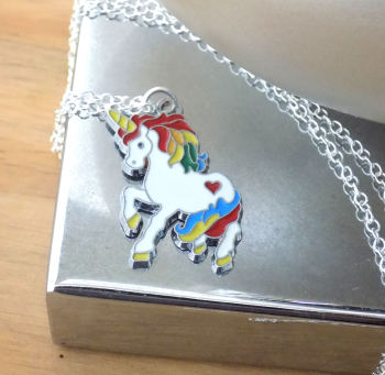 Unicorn Silver Necklace