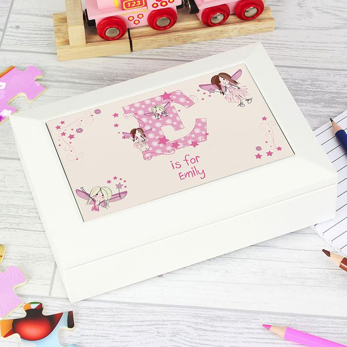 Personalised Fairy Jewellery Box (Letter)