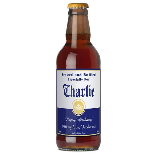 Personalised Beer...Brewed and Bottled For