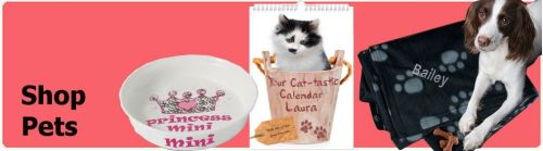Shop for personalised pet gifts