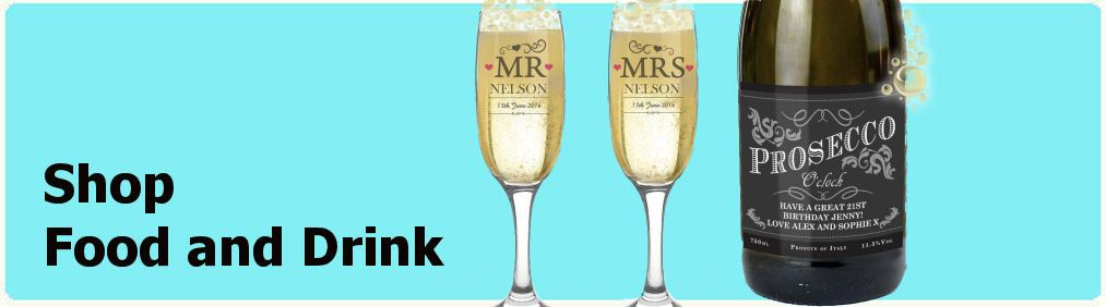 Shop food and drink gifts at personalised by tnako