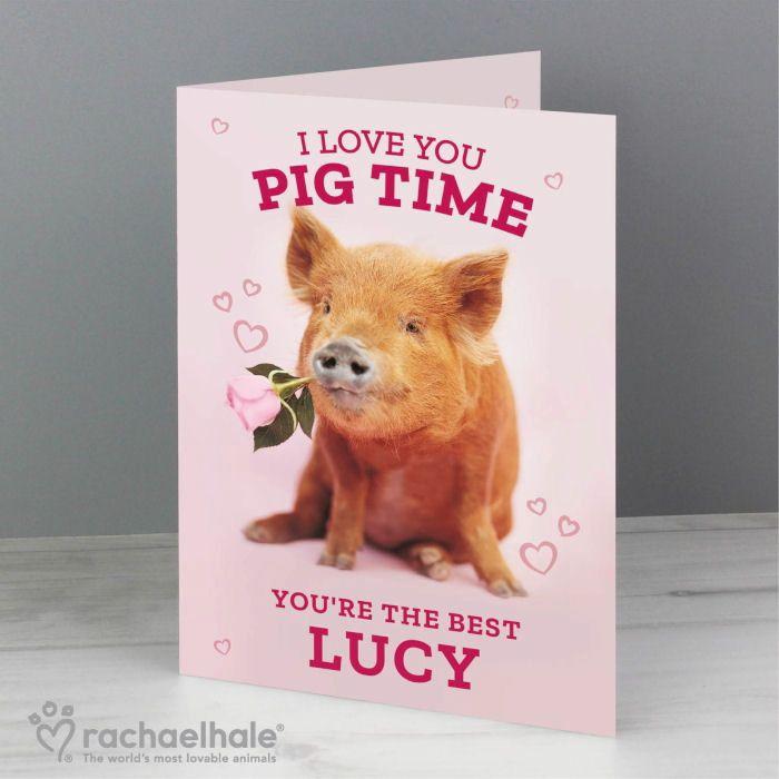 Personalised Pig Card