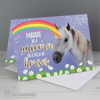 Personalised Unicorn Card
