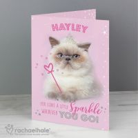 Personalised Sparkle Cat Card