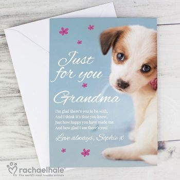Personalised Just for You Puppy Card