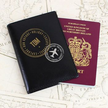 Personalised Stamped Passport Holder