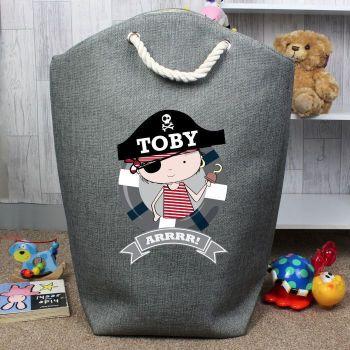 Personalised Pirate Storage Bag