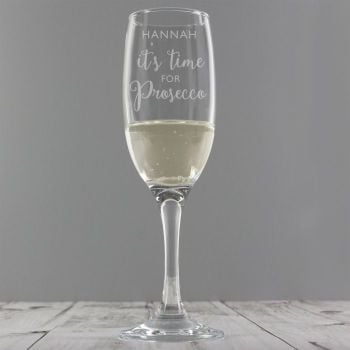 Personalised 'It's Time for Prosecco' Flute