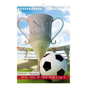 Personalised Football A4 Wall Calendar