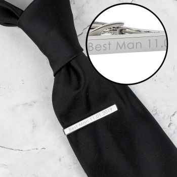 Personalised Silver Tie Clip