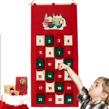 Personalised Elf Felt Advent Calendar