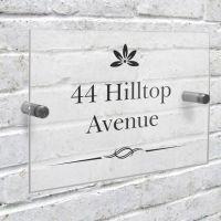 Personalised Decorative Swirl Acrylic House Sign